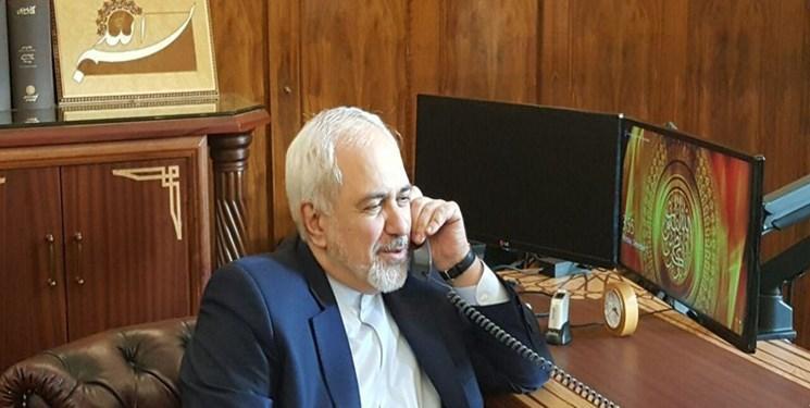گفتگوی تلفنی ظریف و وزیر خارجه هند