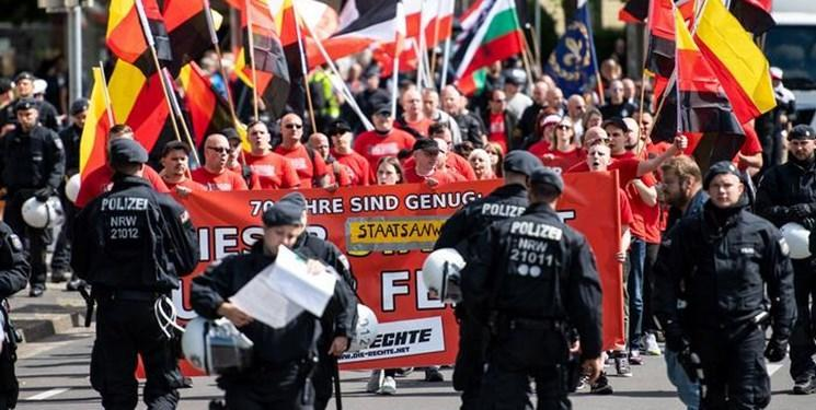 تظاهرات راست گرایان آلمان و مخالفان آنها در دورتموند