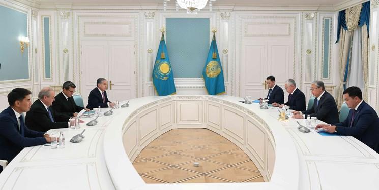 دیدار رئیس جمهور قزاقستان با وزرای خارجه آسیای مرکزی