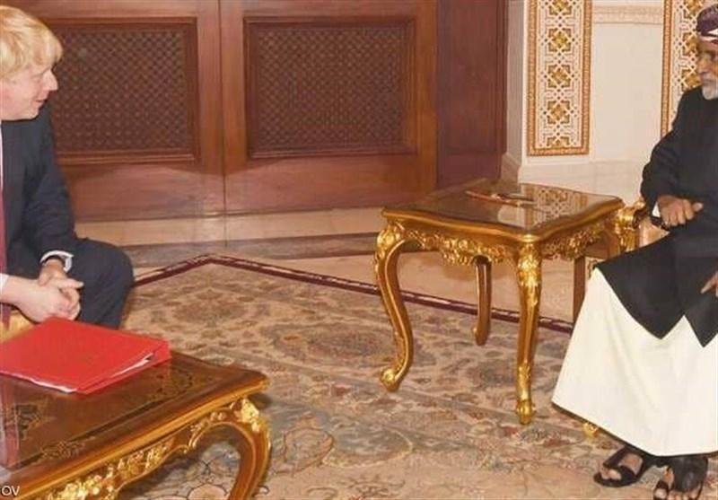 دیدار وزیر خارجه بریتانیا با پادشاه عمان
