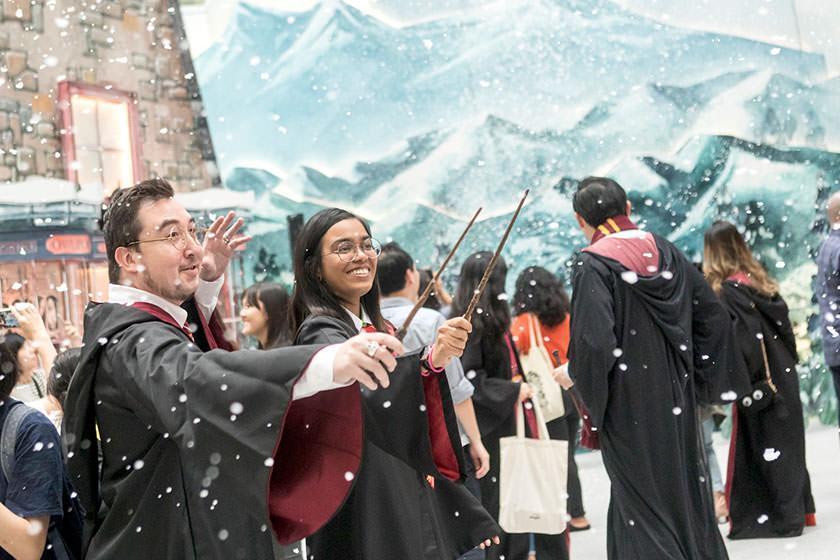 دنیای جادویی هری پاتر به فرودگاه چانگی سنگاپور می آید