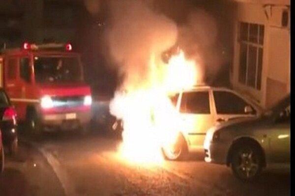 خودروی کارمند کنسولگری ترکیه در یونان به آتش کشیده شد