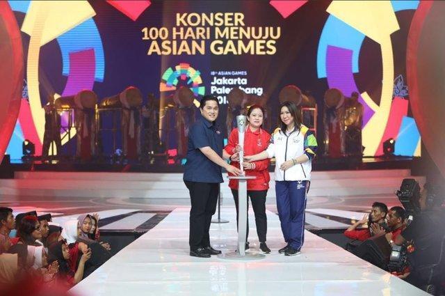 رونمایی از مشعل بازی های آسیایی جاکارتا