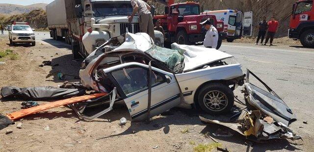 سانحه رانندگی در جاده قدیم میانه-تبریز 2 کشته و 4 مصدوم برجای گذاشت