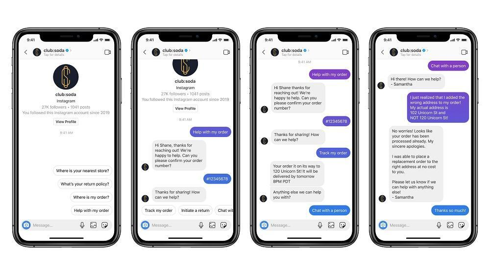 اینستاگرام امکان پاسخ به دایرکت های مشتریان از طریق بات را فراهم می کند