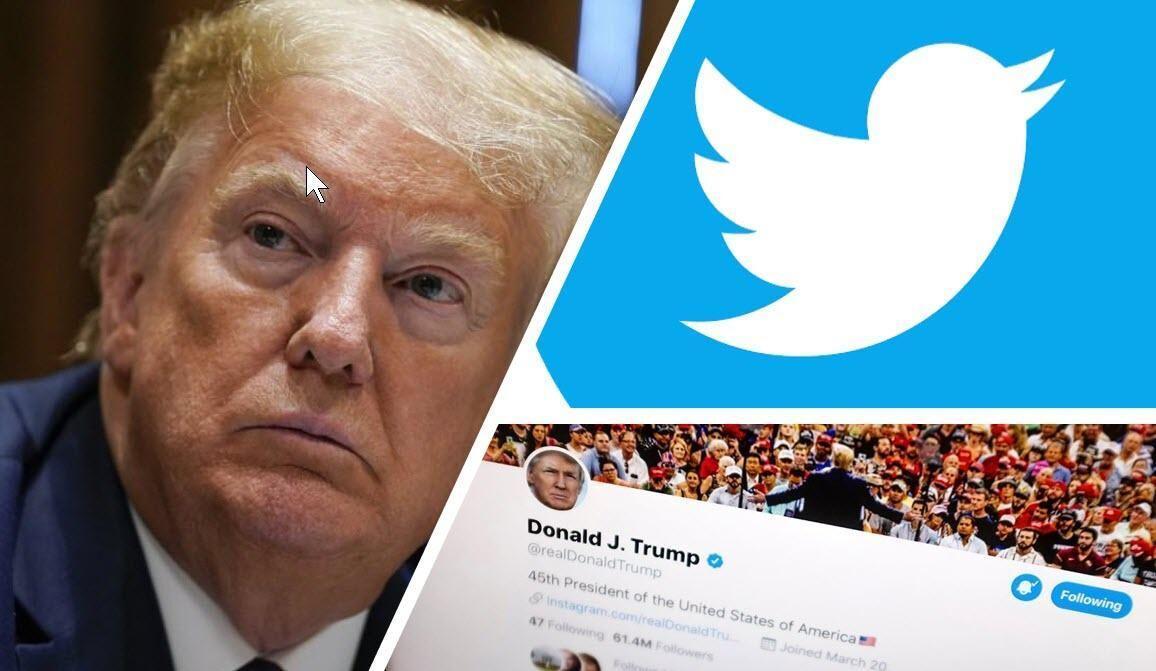رویارویی توئیتر و فیسبوک با ترامپ