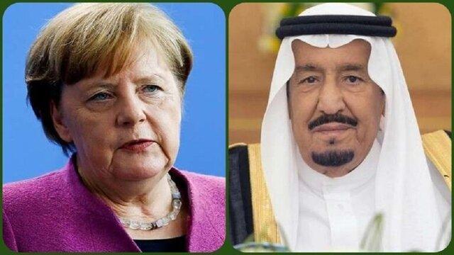 گفتگوی تلفنی پادشاه عربستان و آنگلا مرکل