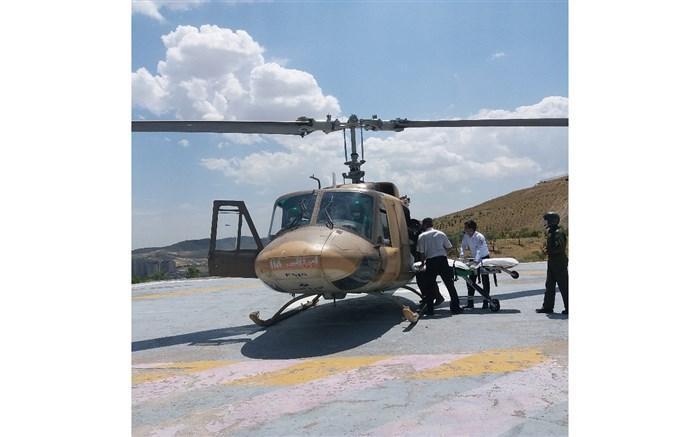 بکارگیری بالگردهای ایزوله برای انتقال بیماران کرونایی درمناطق سخت گذر