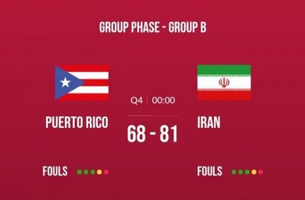 پیروزی ارزشمند جوانان ایران در جام جهانی بسکتبال