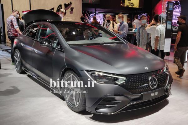 تور ارزان آلمان: مرسدس بنز EQE 350 در نمایشگاه خودرو مونیخ، اس کلاس برقی در ابعاد کوچک تر؟